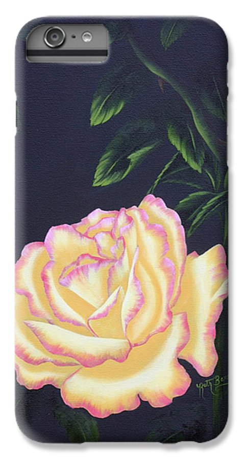 Rose IPhone 6 Plus Case featuring the painting The Rose by Ruth Bares