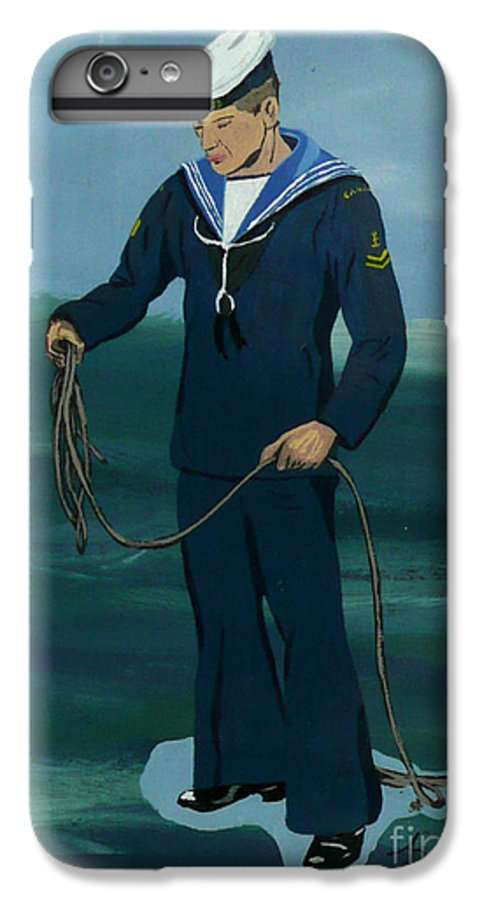 Sailor IPhone 6 Plus Case featuring the painting The Sailor by Anthony Dunphy