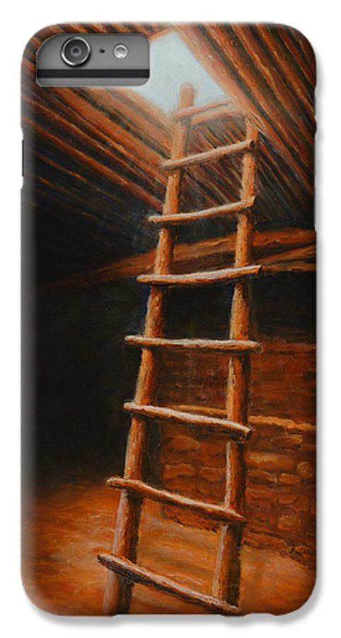 Kiva IPhone 6 Plus Case featuring the painting The Second World by Jerry McElroy