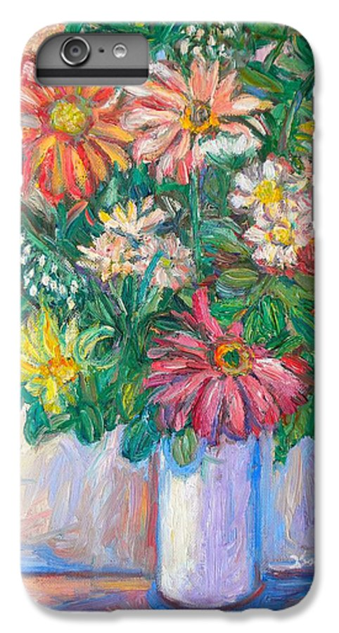 Still Life IPhone 6 Plus Case featuring the painting The White Vase by Kendall Kessler