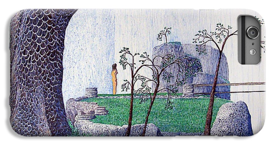 Landscape IPhone 6 Plus Case featuring the painting The Yearning Tree by A Robert Malcom