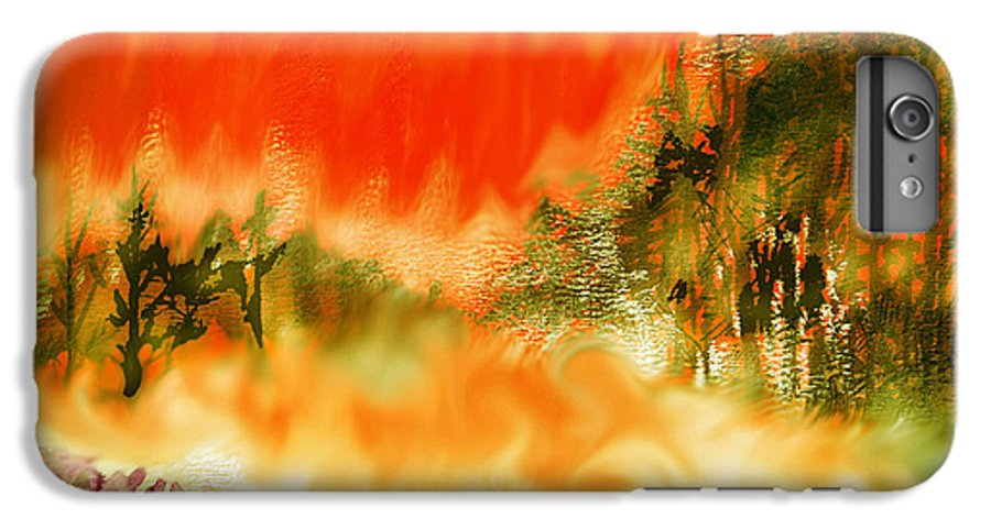 Timber Blaze IPhone 6 Plus Case featuring the mixed media Timber Blaze by Seth Weaver