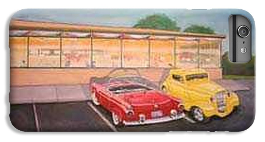 Rick Huotari IPhone 6 Plus Case featuring the painting Times Past Diner by Rick Huotari