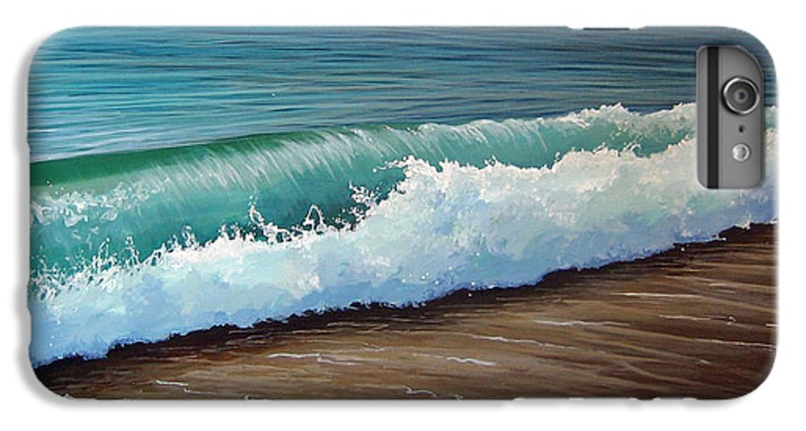 Wave On A Florida Beach IPhone 6 Plus Case featuring the painting To The Shore by Hunter Jay