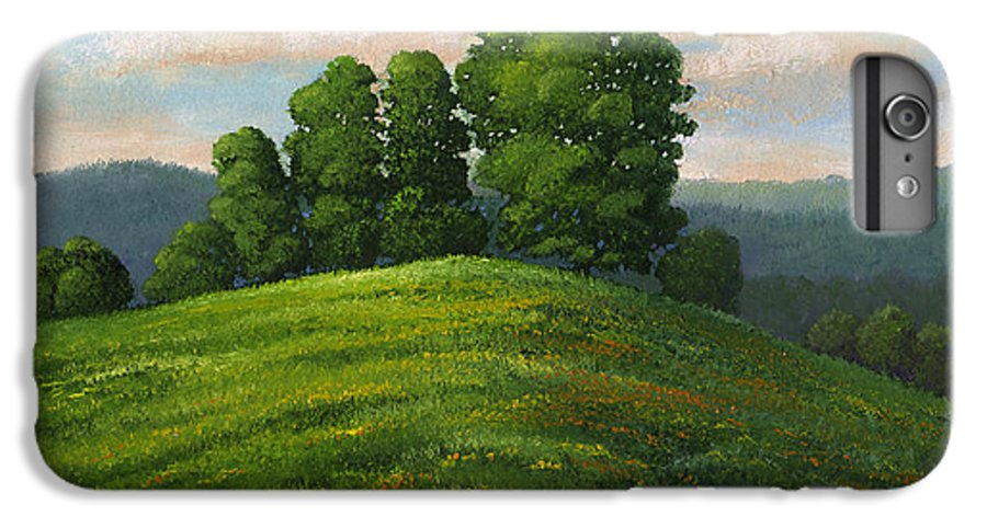 Landscape IPhone 6 Plus Case featuring the painting Toboggan Hill by Frank Wilson