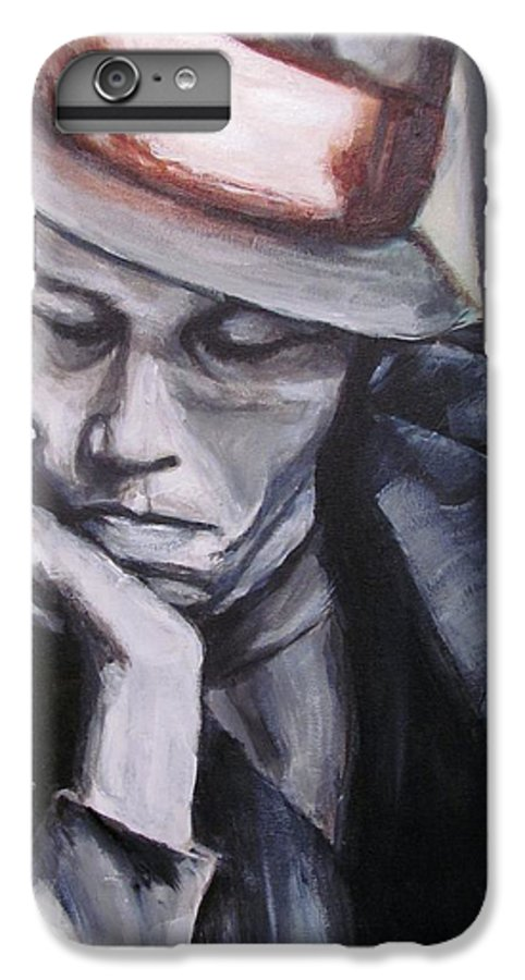 Celebrity Portraits IPhone 6 Plus Case featuring the painting Tom Waits One by Eric Dee