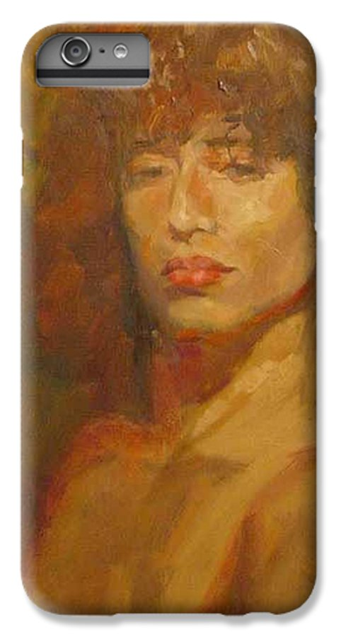 Portrait IPhone 6 Plus Case featuring the painting Tracy by Irena Jablonski