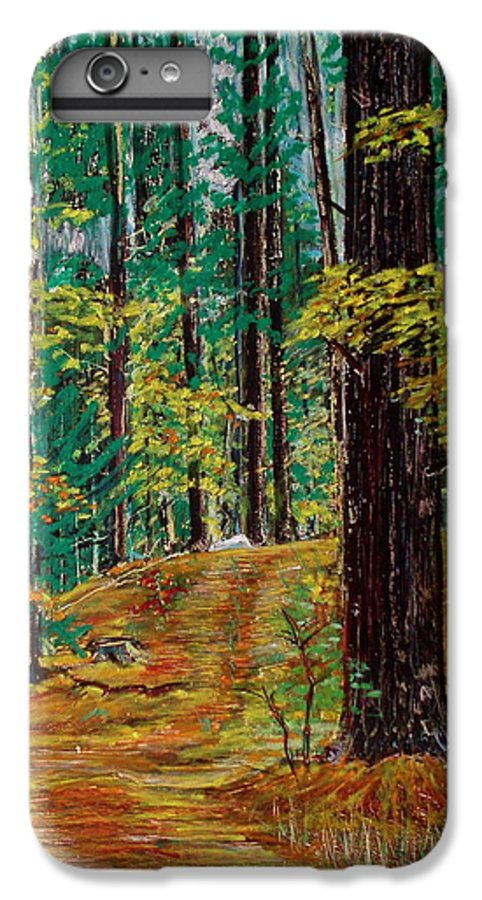 New Hampshire IPhone 6 Plus Case featuring the pastel Trail At Wason Pond by Sean Connolly