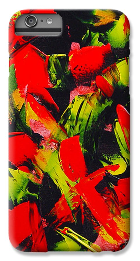 Abstract IPhone 6 Plus Case featuring the painting Transitions IIi by Dean Triolo