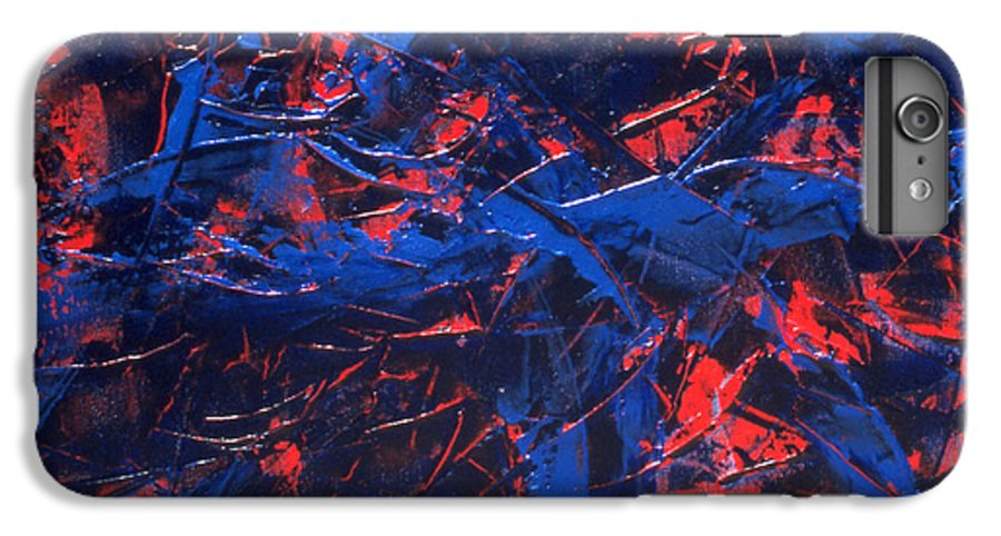 Abstract IPhone 6 Plus Case featuring the painting Transitions Iv by Dean Triolo