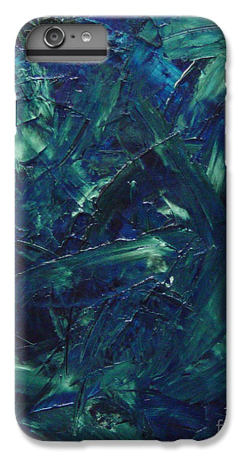 Abstract IPhone 6 Plus Case featuring the painting Transtions Xi by Dean Triolo