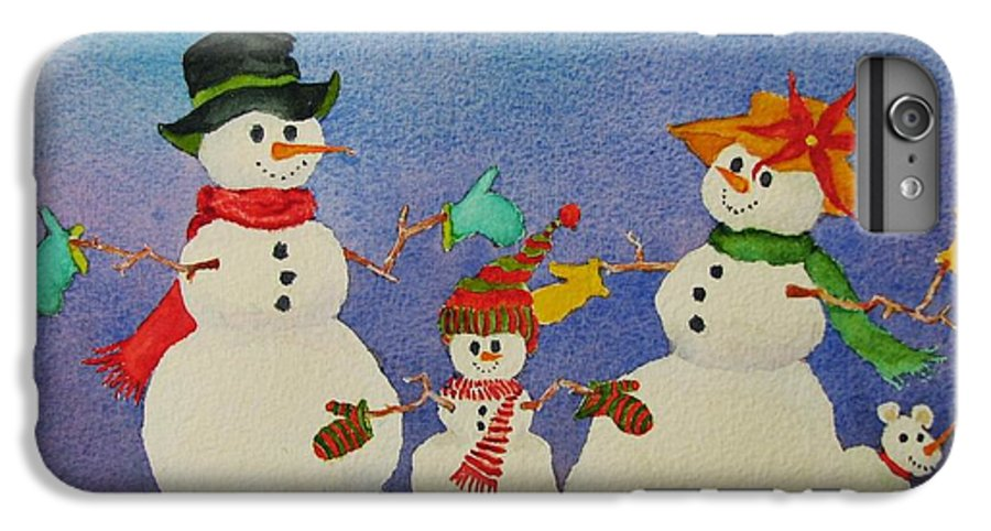 Winter IPhone 6 Plus Case featuring the painting Tres Chic by Mary Ellen Mueller Legault