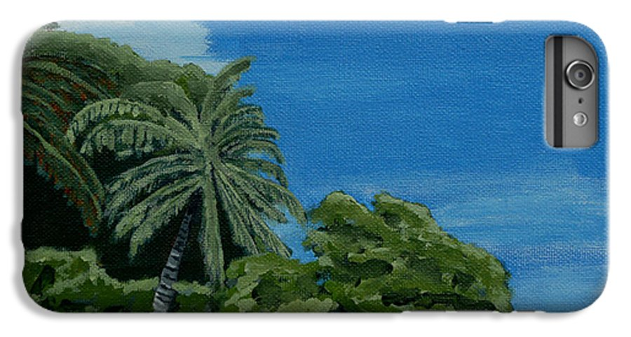 Beach IPhone 6 Plus Case featuring the painting Tropical Beach by Anthony Dunphy