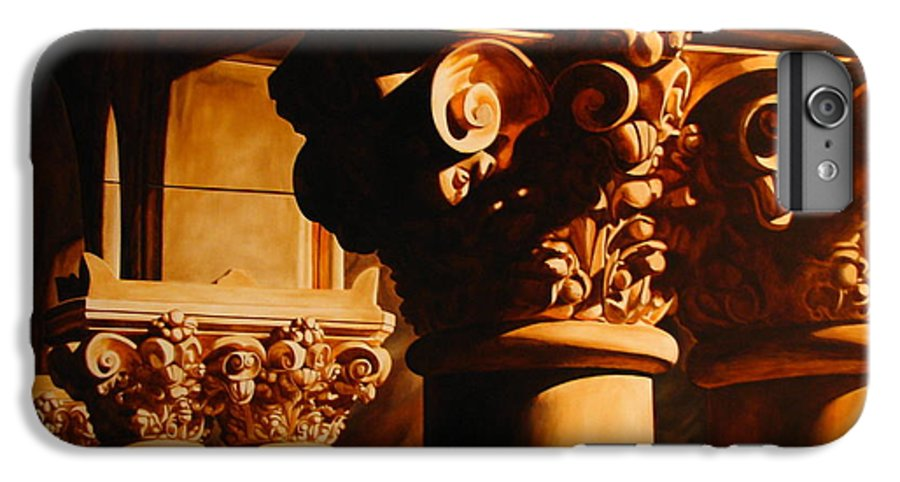Corinthian Columns IPhone 6 Plus Case featuring the painting Turn Of The Century by Keith Gantos