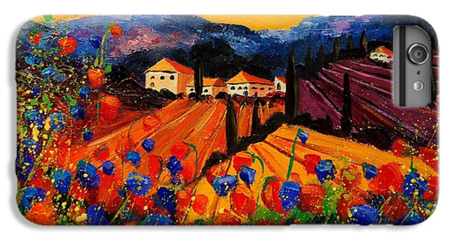 Poppies IPhone 6 Plus Case featuring the painting Tuscany Poppies by Pol Ledent