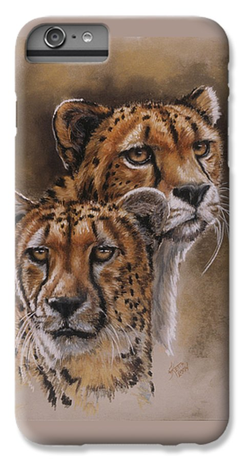 Cheetah IPhone 6 Plus Case featuring the pastel Twins by Barbara Keith