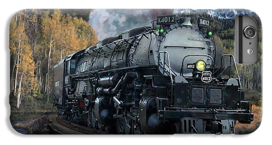 Railroad IPhone 6 Plus Case featuring the painting Union Pacific 4-8-8-4 Big Boy by Mark Karvon