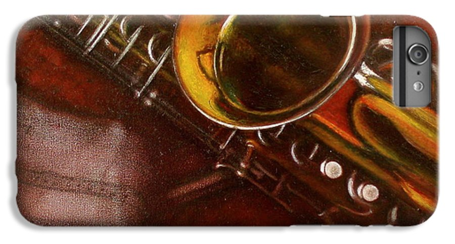 Still Life IPhone 6 Plus Case featuring the painting Unprotected Sax by Sean Connolly