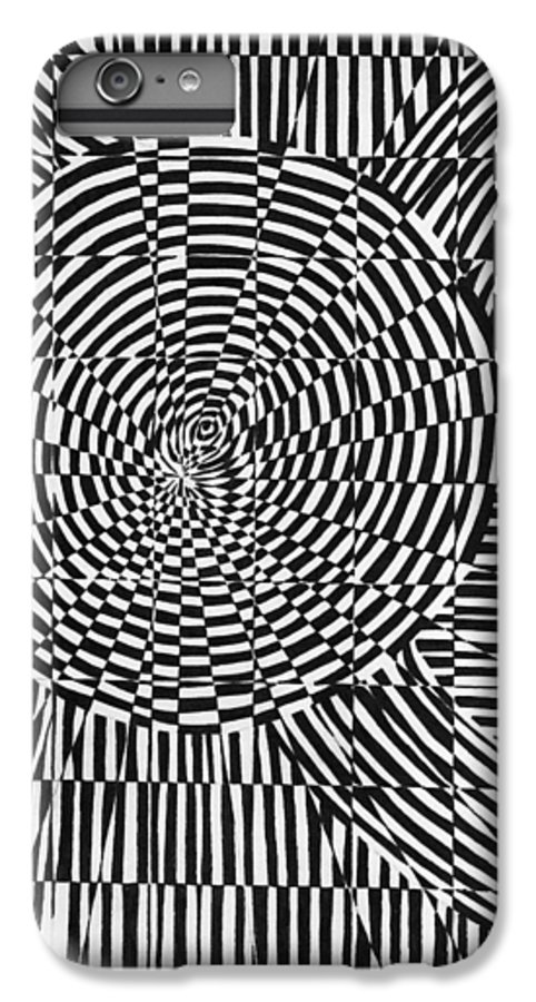 Abstract IPhone 6 Plus Case featuring the drawing Unraveled by Crystal Hubbard