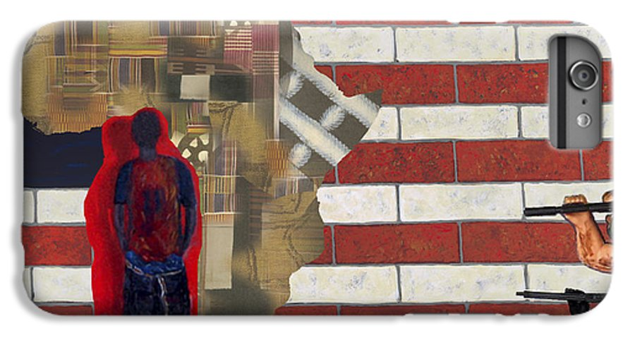 African American IPhone 6 Plus Case featuring the digital art In-sights by F Geoffrey Johnson