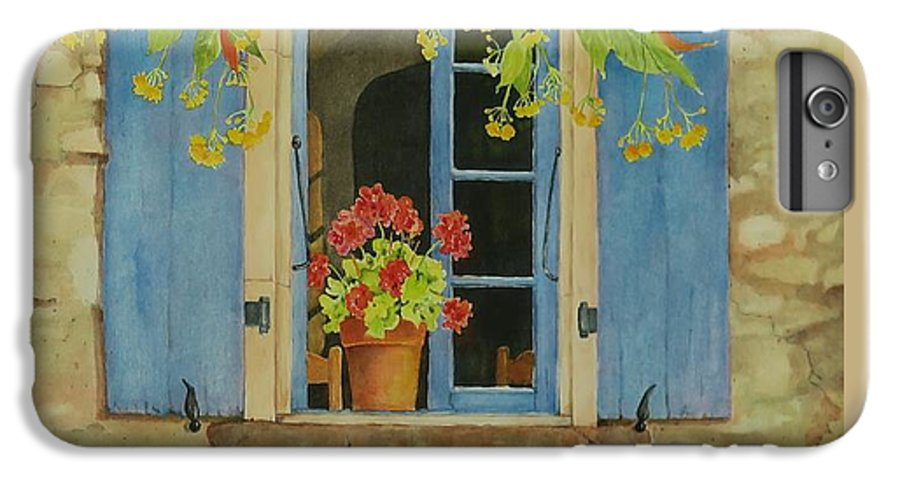 France IPhone 6 Plus Case featuring the painting Vacation Memory by Mary Ellen Mueller Legault
