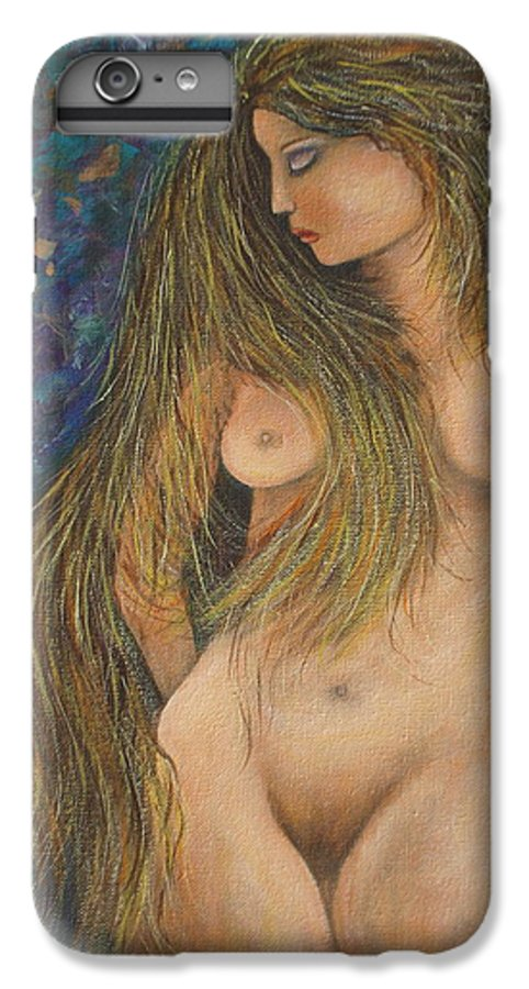 Woman IPhone 6 Plus Case featuring the painting Valencina by Natalie Holland