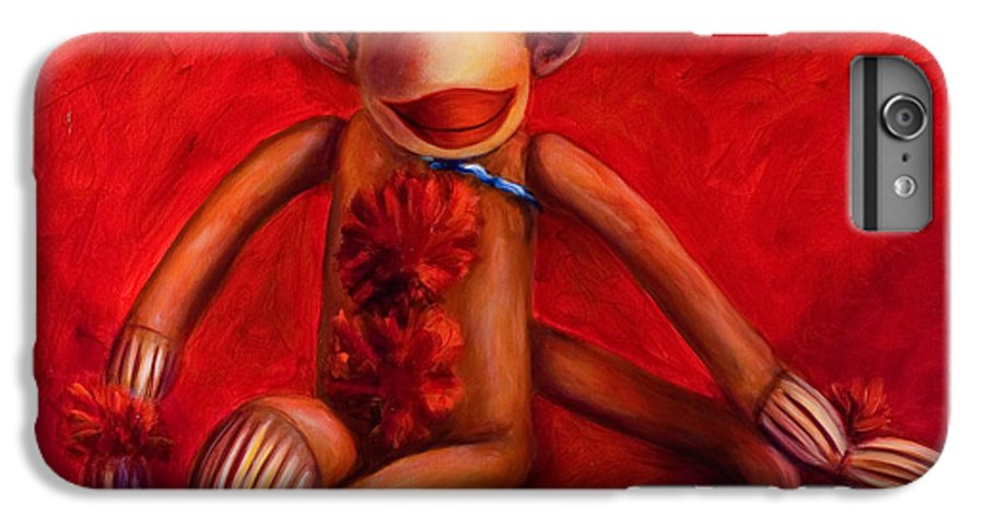 Children IPhone 6 Plus Case featuring the painting Valentine by Shannon Grissom