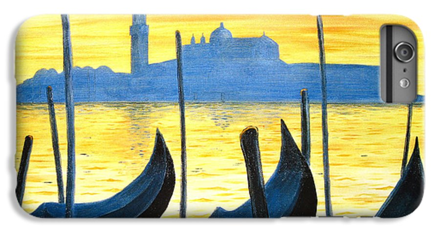 Venice IPhone 6 Plus Case featuring the painting Venezia Venice Italy by Jerome Stumphauzer