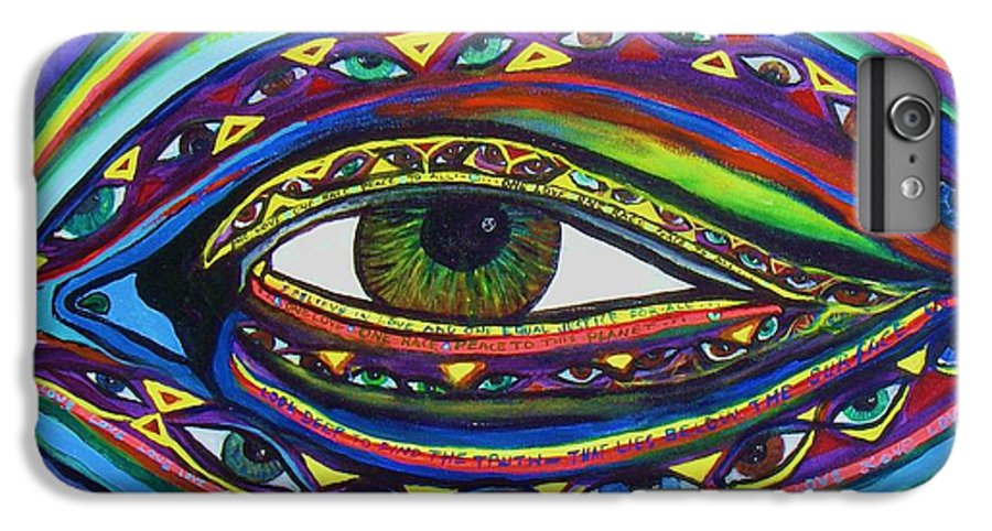 Vision IPhone 6 Plus Case featuring the painting Vision by J Andrel