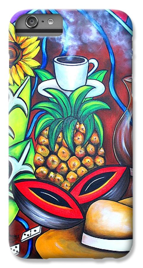Cuban Paintings IPhone 6 Plus Case featuring the painting Welcome To Here And Now by Annie Maxwell