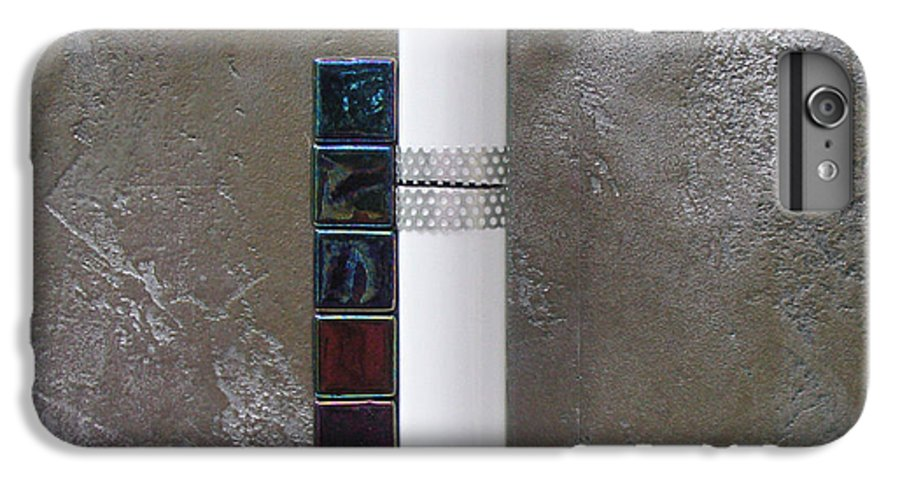 Assemblage IPhone 6 Plus Case featuring the relief White Tower by Elaine Booth-Kallweit