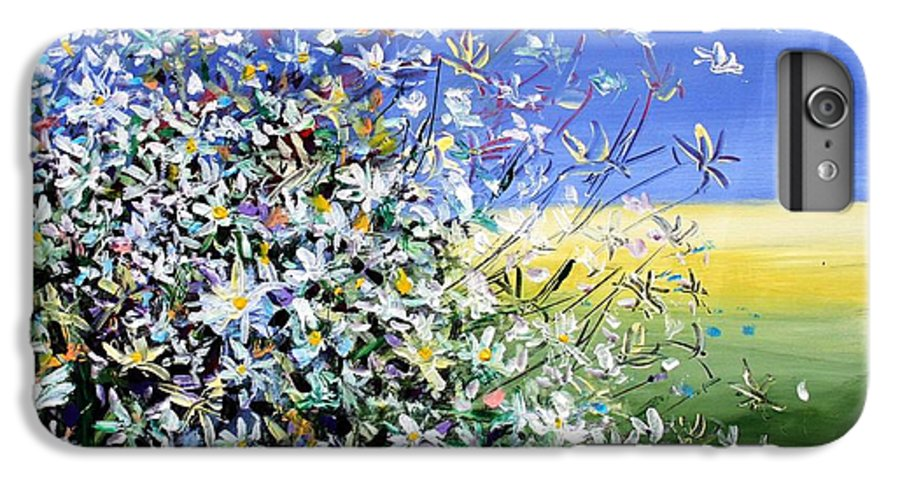 Daisies IPhone 6 Plus Case featuring the painting Wild Daisies by Mario Zampedroni