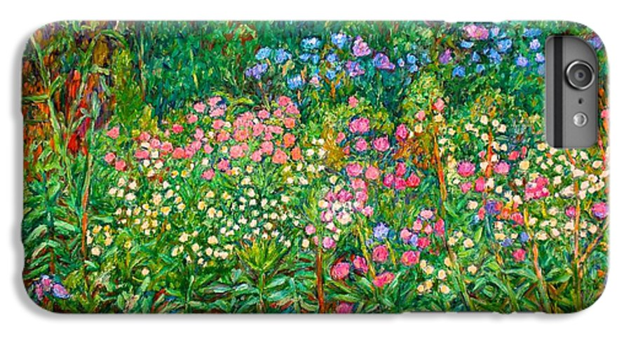 Floral IPhone 6 Plus Case featuring the painting Wildflowers Near Fancy Gap by Kendall Kessler