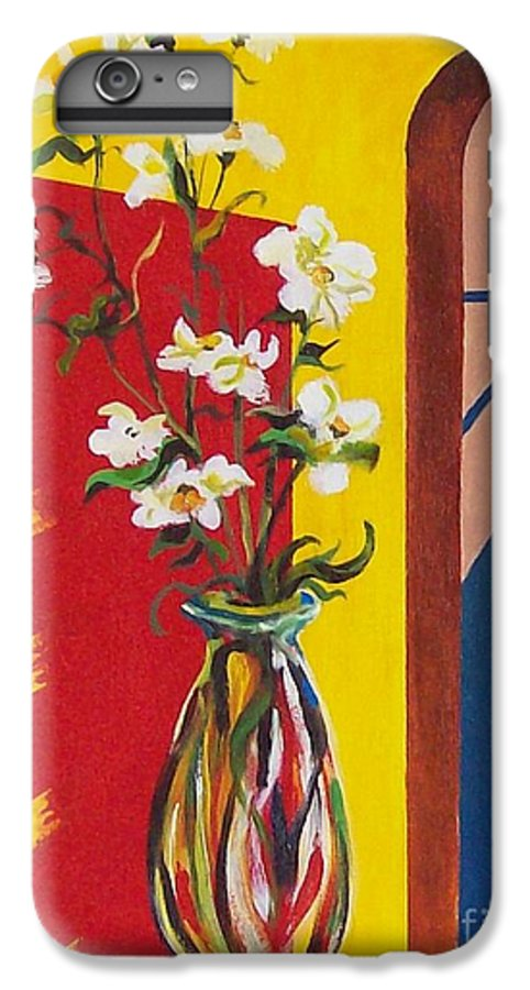 Still Life IPhone 6 Plus Case featuring the painting Window by Sinisa Saratlic
