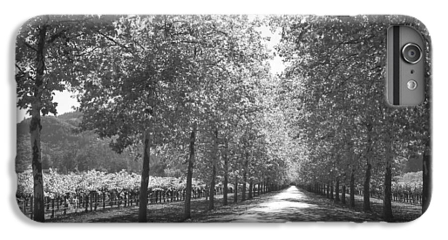 Black And White IPhone 6 Plus Case featuring the photograph Wine Country Napa Black And White by Suzanne Gaff