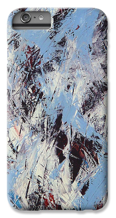 Abstract IPhone 6 Plus Case featuring the painting Winter by Dean Triolo