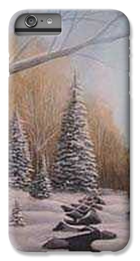 Rick Huotari IPhone 6 Plus Case featuring the painting Winter Morning by Rick Huotari