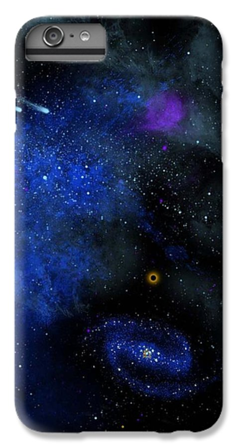 Wonders Of The Universe Mural IPhone 6 Plus Case featuring the painting Wonders Of The Universe Mural by Frank Wilson