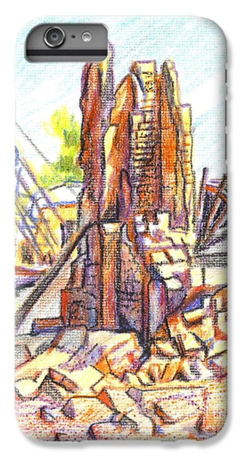 Wrecking Ball IPhone 6 Plus Case featuring the painting Wrecking Ball by Kip DeVore