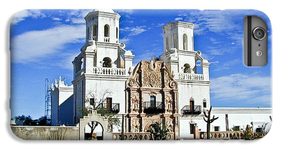 Mission San Xavier Del Bac IPhone 6 Plus Case featuring the photograph Xavier Tucson Arizona by Douglas Barnett