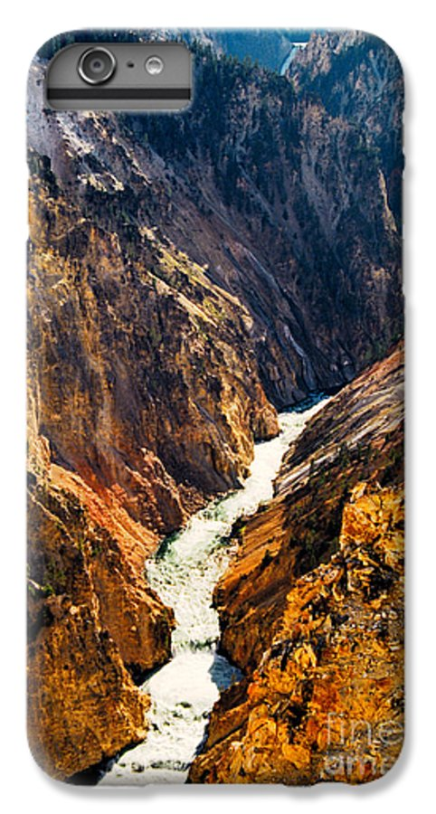 Yellowstone IPhone 6 Plus Case featuring the photograph Yellowstone River by Kathy McClure