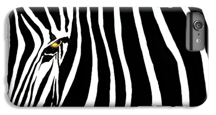 Zebra IPhone 6 Plus Case featuring the photograph Zebressence by Dan Holm