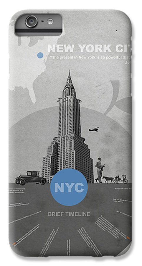 New York IPhone 6 Plus Case featuring the photograph Nyc Poster by Naxart Studio
