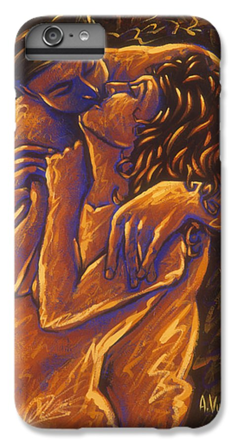 Acrylic IPhone 6 Plus Case featuring the painting Los Amantes The Lovers by Arturo Vilmenay