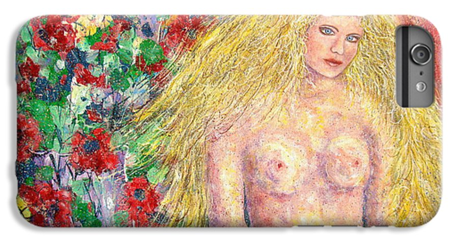 Nude IPhone 6 Plus Case featuring the painting Nude Fantasy by Natalie Holland