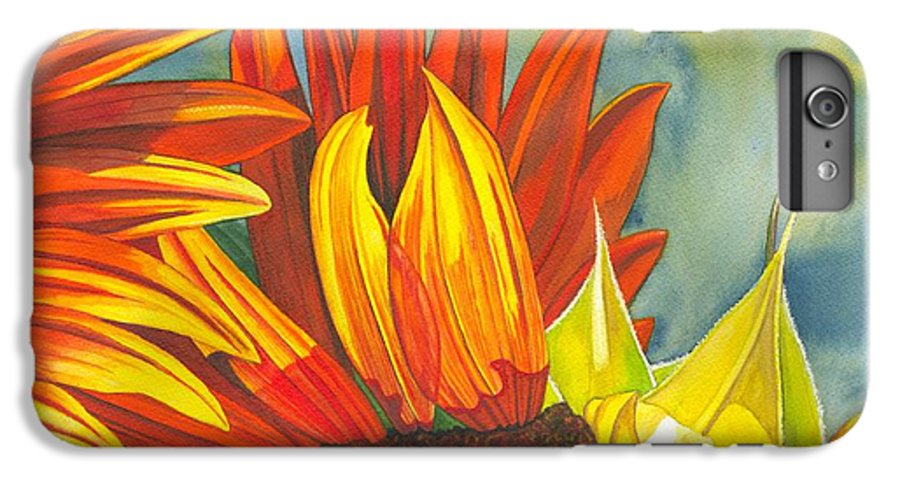 Sunflower IPhone 6 Plus Case featuring the painting Ray by Catherine G McElroy