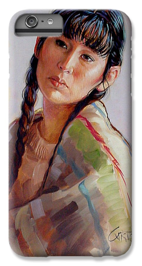Sacajawea IPhone 6 Plus Case featuring the painting Sacajawea  Study by Jerrold Carton