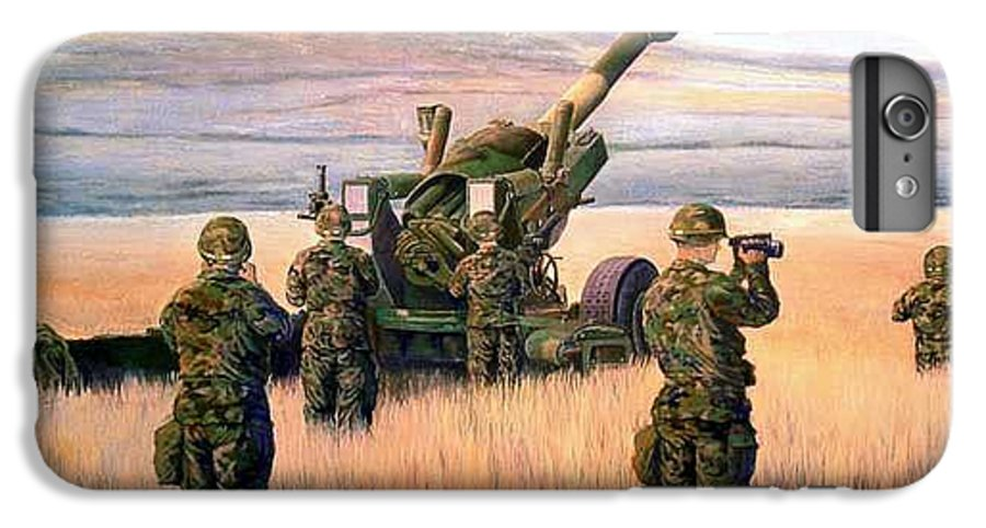 Signed And Numbered Prints Of The Montana National Guard IPhone 6 Plus Case featuring the print 1-190th Artillery by Scott Robertson