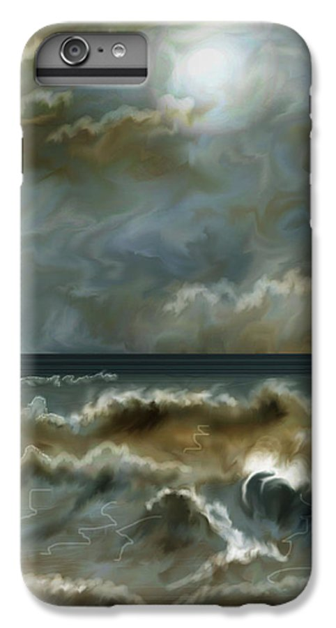 Seascape IPhone 6 Plus Case featuring the painting After The Squall by Anne Norskog