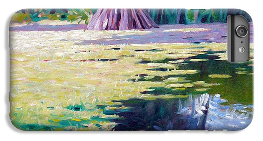 Water IPhone 6 Plus Case featuring the painting Algae by Kevin Lawrence Leveque
